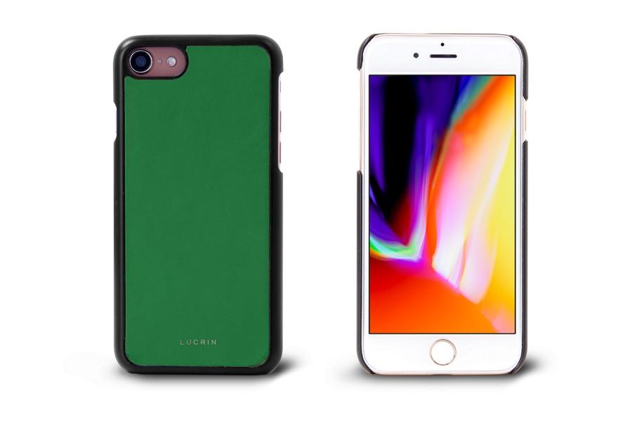 coque iphone 8 vert cuir lisse iphone 8 apple. Black Bedroom Furniture Sets. Home Design Ideas