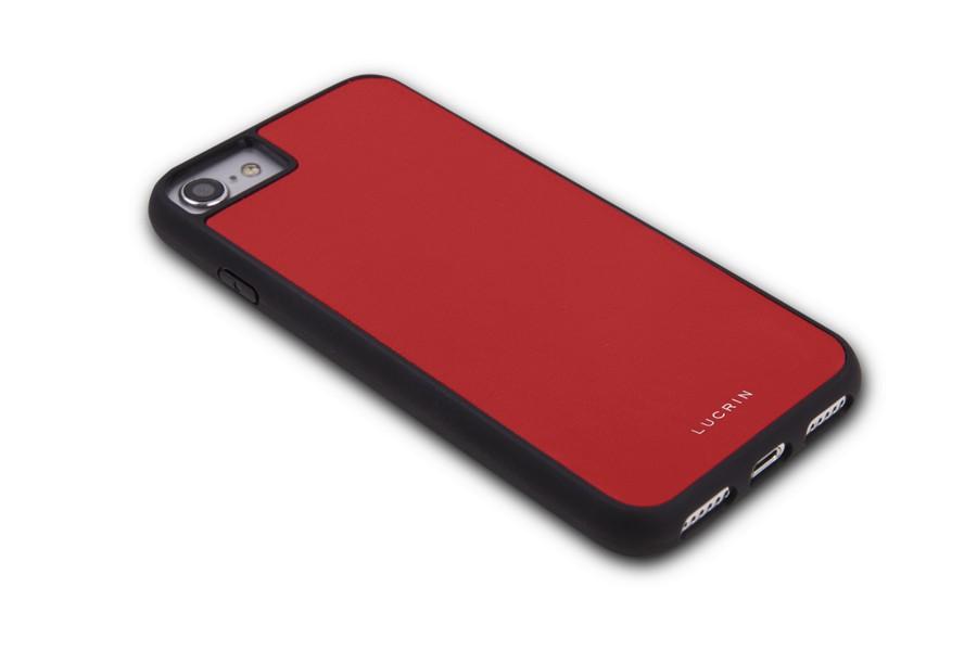 coque iphone 8 en cuir rouge cuir lisse. Black Bedroom Furniture Sets. Home Design Ideas