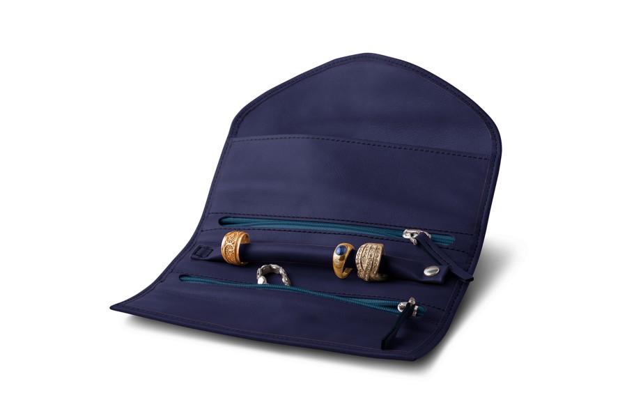 Pochette de voyage en cuir pour bijoux for Pochette pour couteaux de cuisine