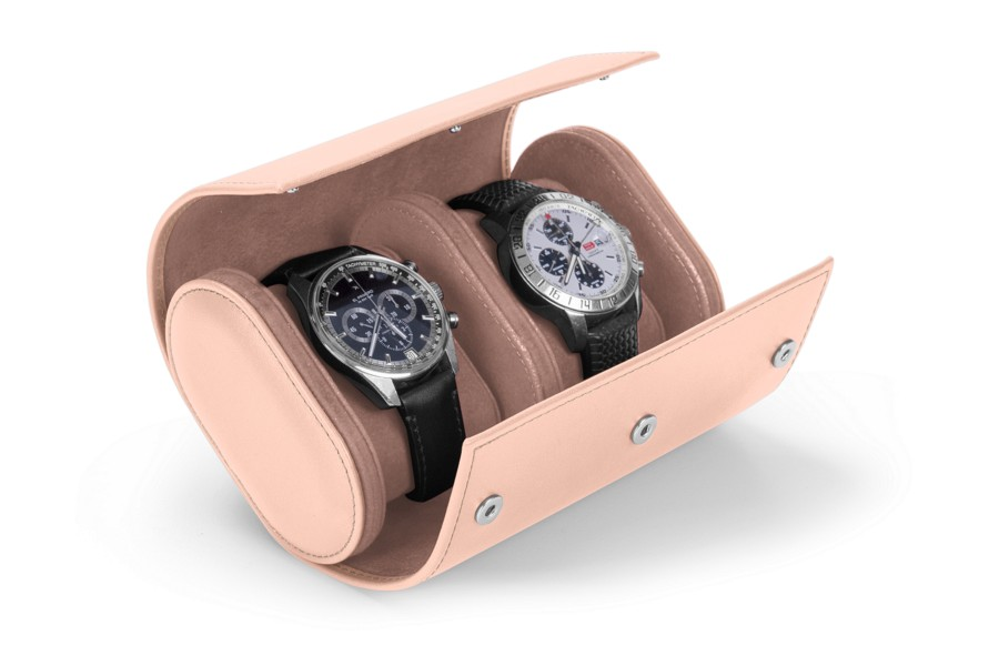 Watch case for 2 watches
