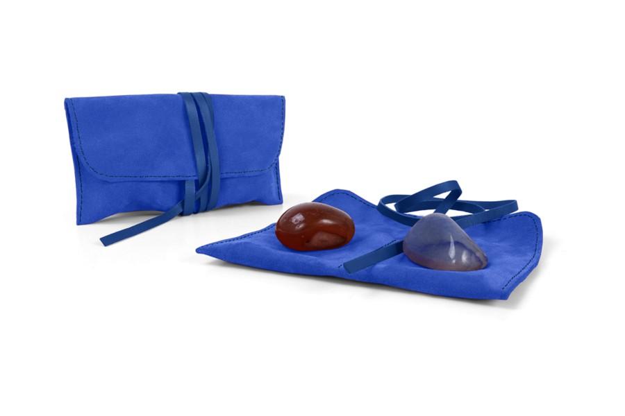 Semi-precious gemstones pouch