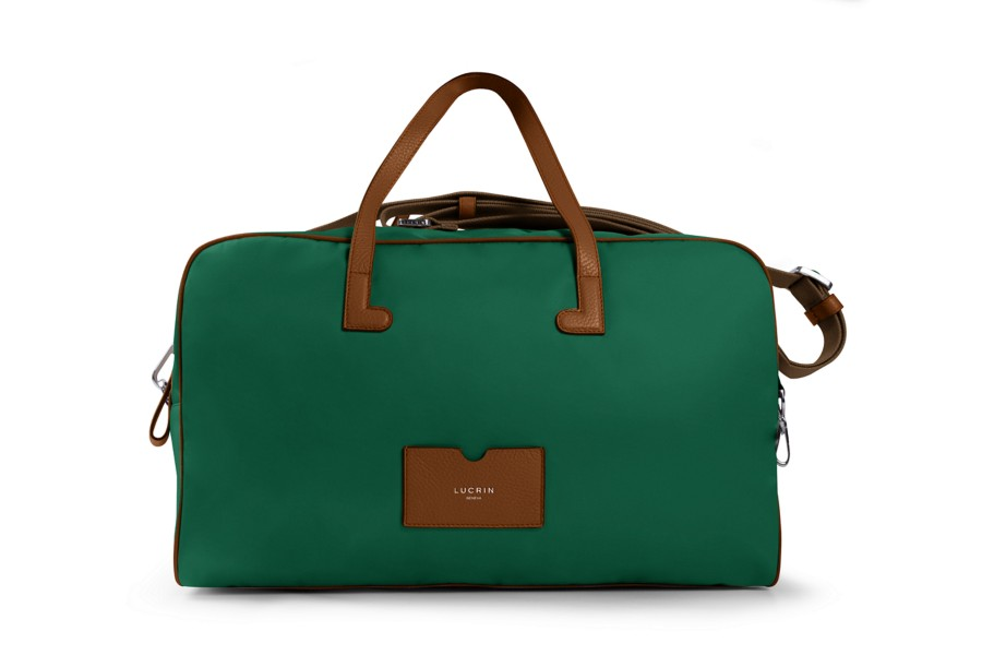 Leather & Nylon Travel Bag