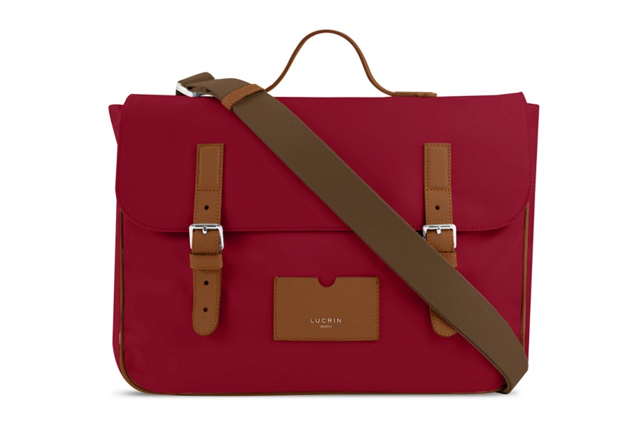 Leather-Nylon Satchel
