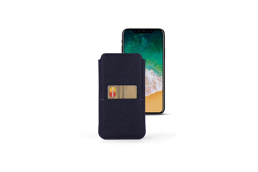 iPhone X leather pouch with pocket
