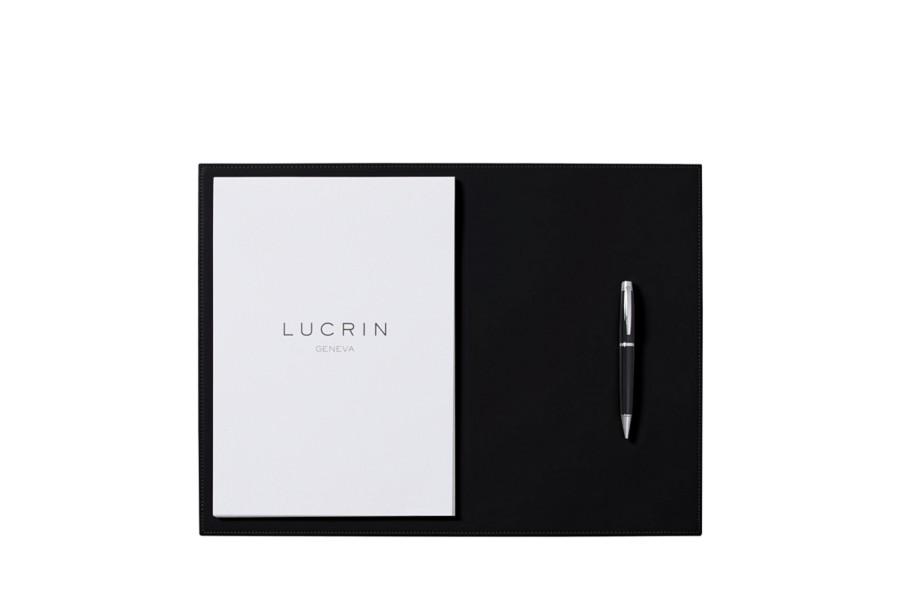 steife leder schreibtischunterlage 44 x 27 cm schwarz. Black Bedroom Furniture Sets. Home Design Ideas
