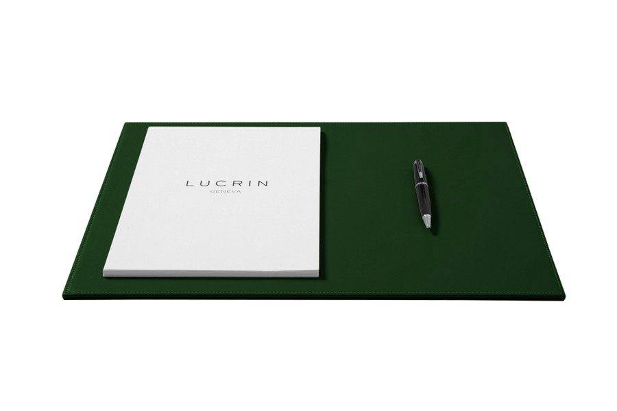 sous main de bureau rigide en cuir vert fonc cuir lisse. Black Bedroom Furniture Sets. Home Design Ideas