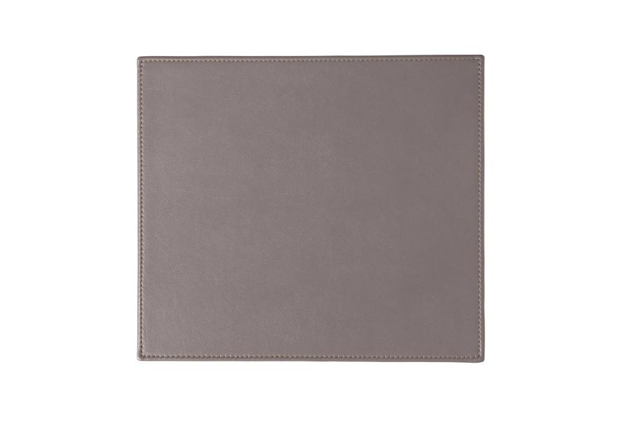 Tapis de souris rectangulaire en cuir naturelle taupe Tapis taupe clair