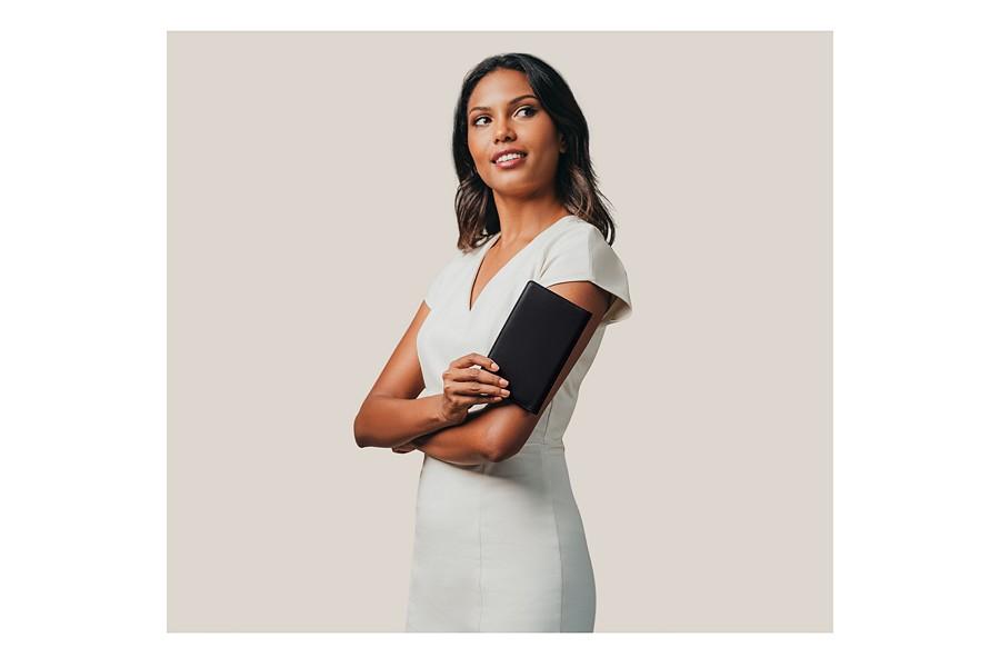 Agenda de bolsillo semanario rosa piel de cabra for Agendas de oficina