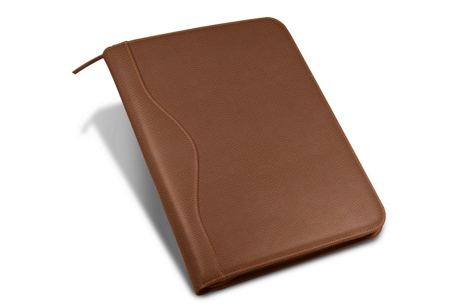 porte documents a4 avec soufflet cognac cuir grain. Black Bedroom Furniture Sets. Home Design Ideas