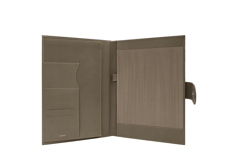 porte documents a4 en cuir avec languette. Black Bedroom Furniture Sets. Home Design Ideas