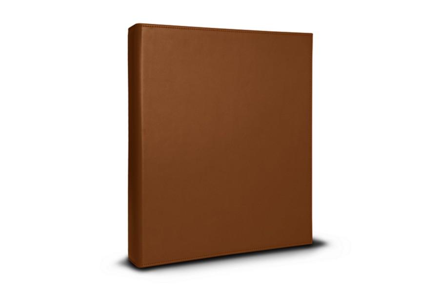 classeur a4 4 anneaux 200 feuilles cognac cuir lisse bureau. Black Bedroom Furniture Sets. Home Design Ideas