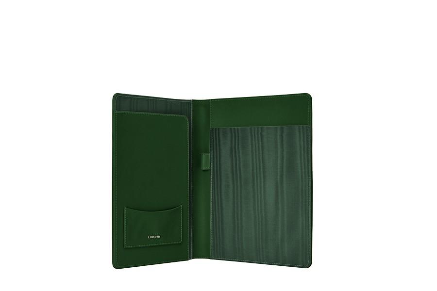 porte document a5 vert fonc cuir lisse conf renciers classeurs a5 bureau. Black Bedroom Furniture Sets. Home Design Ideas