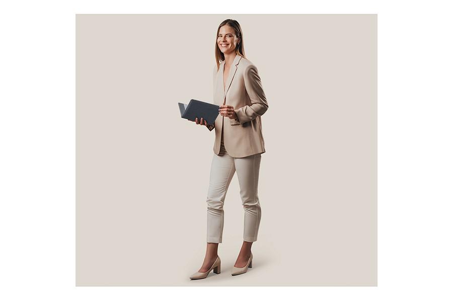 porte document a5 gris souris cuir lisse bureau. Black Bedroom Furniture Sets. Home Design Ideas