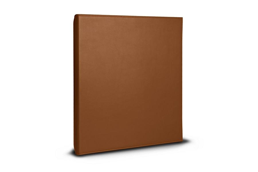 classeur a4 2 anneaux 100 feuilles cognac cuir lisse bureau. Black Bedroom Furniture Sets. Home Design Ideas
