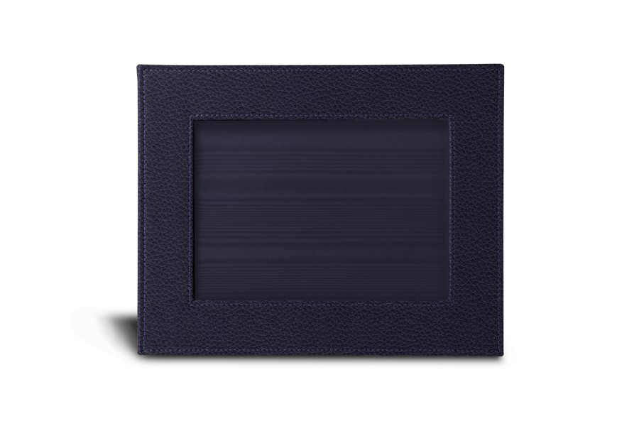 petit cadre photo 24 x 19 cm violet cuir grain albums cadres photos bureau. Black Bedroom Furniture Sets. Home Design Ideas