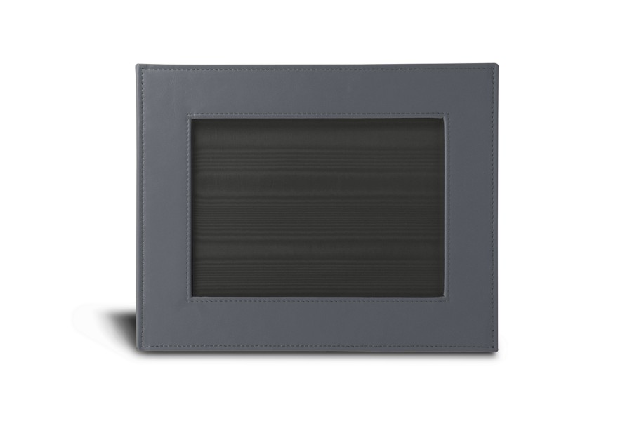 petit cadre photo 24 x 19 cm gris souris cuir lisse albums cadres photos bureau. Black Bedroom Furniture Sets. Home Design Ideas