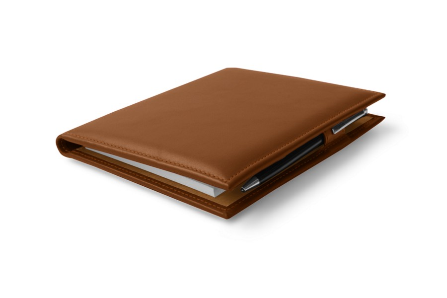 porte documents a6 cognac cuir lisse bureau. Black Bedroom Furniture Sets. Home Design Ideas