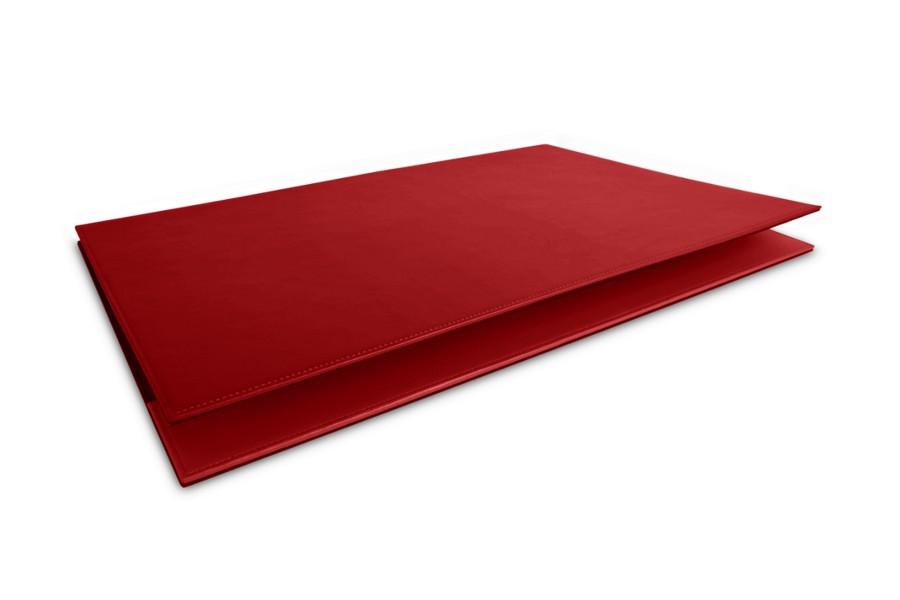 dessus de bureau en cuir personnaliser rouge cuir lisse. Black Bedroom Furniture Sets. Home Design Ideas