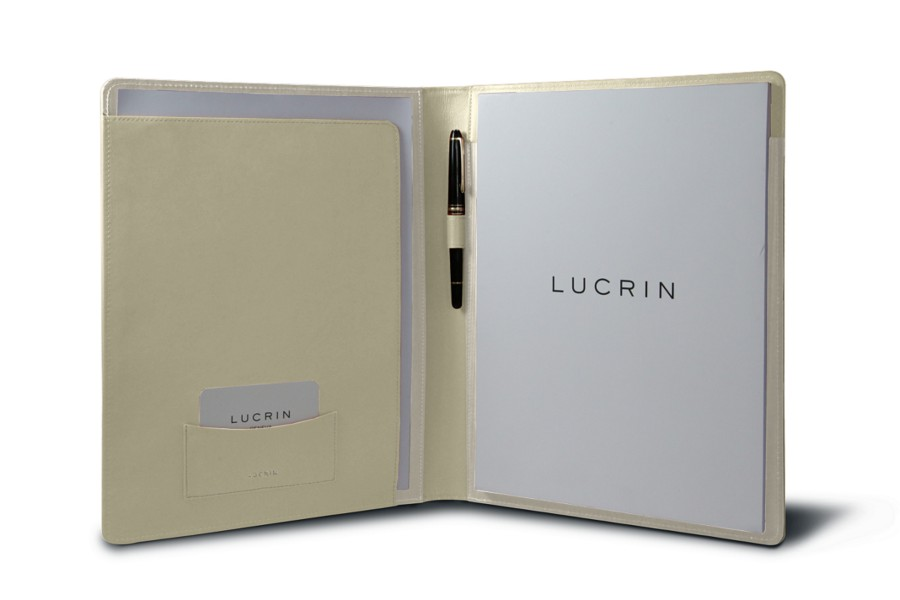 porte documents business a4 blanc cass cuir lisse bureau. Black Bedroom Furniture Sets. Home Design Ideas