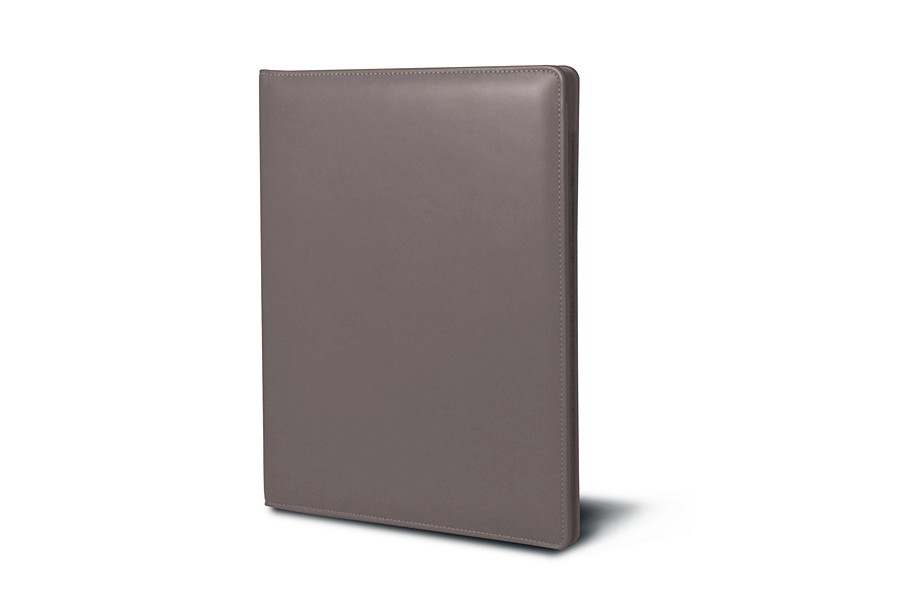 A4/US Letter Business portfolio - Light Taupe - Smooth Leather
