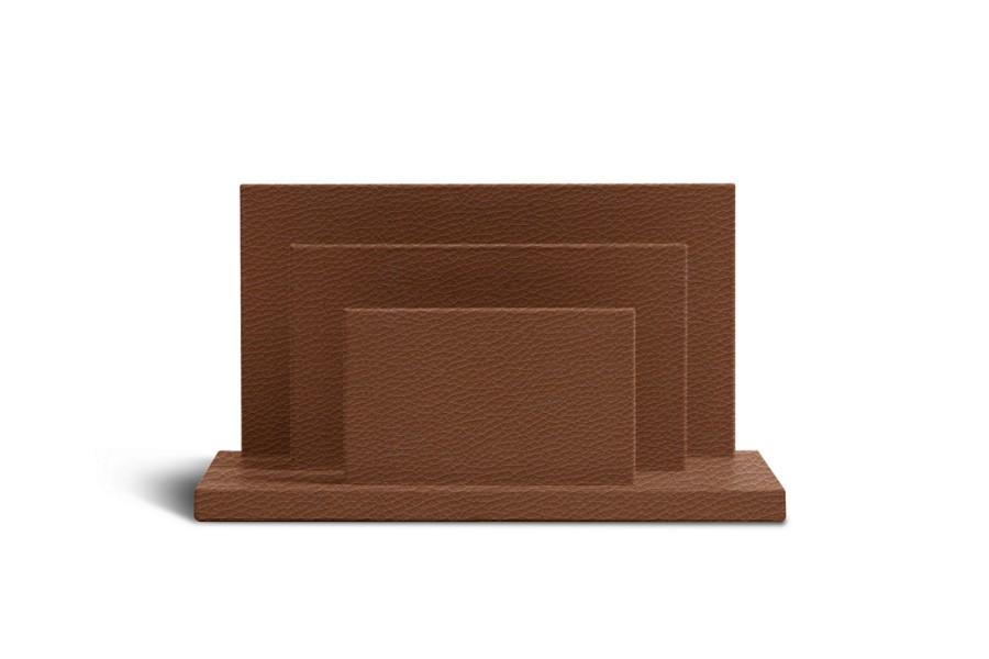 porte lettres ou enveloppes cognac cuir grain bacs papier bureau. Black Bedroom Furniture Sets. Home Design Ideas