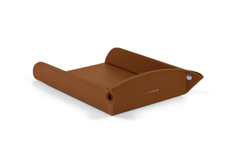porte ordonnance a6 cognac cuir lisse bacs papier. Black Bedroom Furniture Sets. Home Design Ideas
