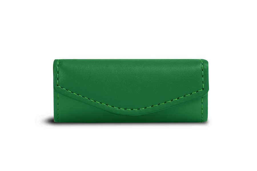 Tui rouge l vres vert cuir lisse for Bouton levre interieur