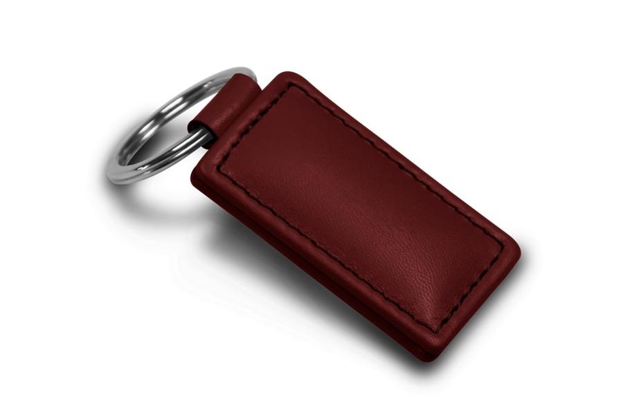 Porte clefs rectangulaire bordeaux cuir lisse for Porte 15 bordeaux