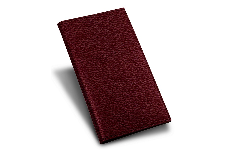 Porte ch quier bordeaux cuir grain for Porte 15 bordeaux