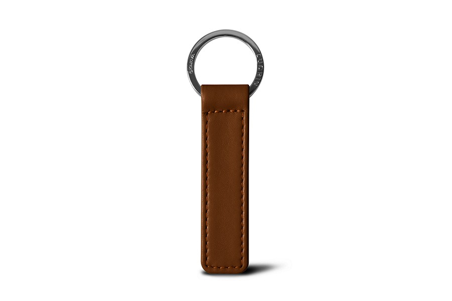 Flat rectangular key ring