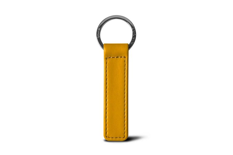 Flat rectangular key ring