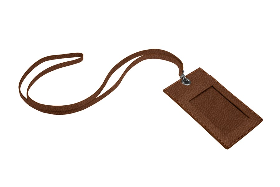Badge holder with strap