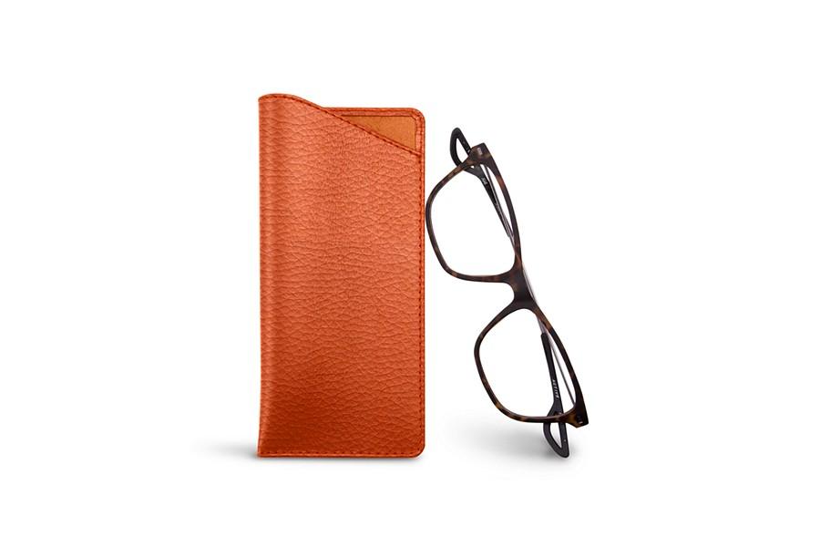 c4abdf7458 Funda para gafas plegables Naranja - Piel Grano ...