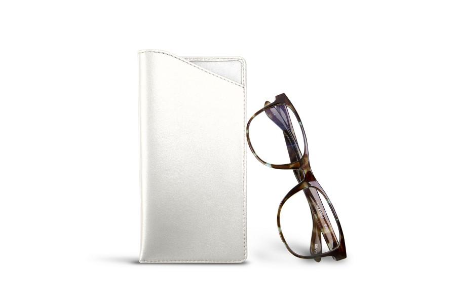 Housse pour lunettes standards blanc cuir lisse for Housse standards