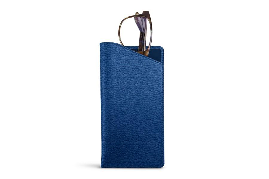 Housse pour lunettes standards bleu roi cuir grain for Housse standards