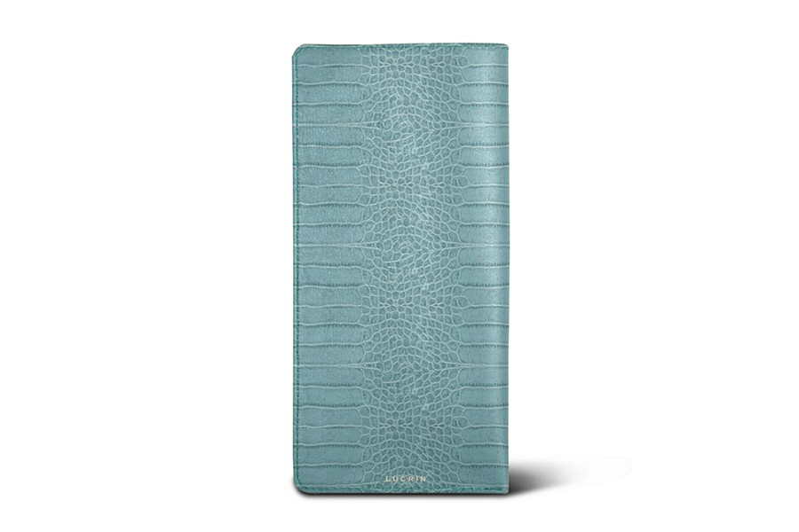 Housse pour lunettes standards turquoise veau fa on for Housse standards