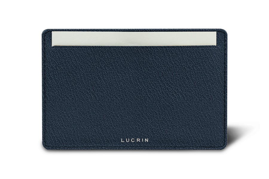 pocket leather note pad 5 2 x 3 3 inches navy blue goat leather. Black Bedroom Furniture Sets. Home Design Ideas