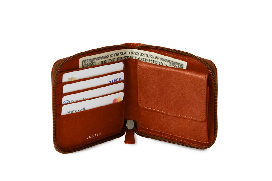 Zipped wallet for men