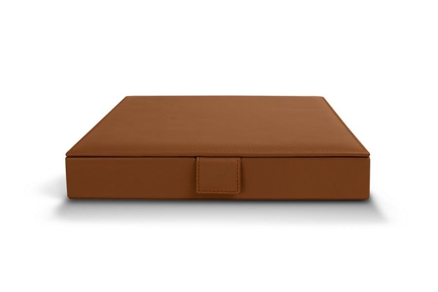 coffret capsules nespresso cognac cuir lisse. Black Bedroom Furniture Sets. Home Design Ideas