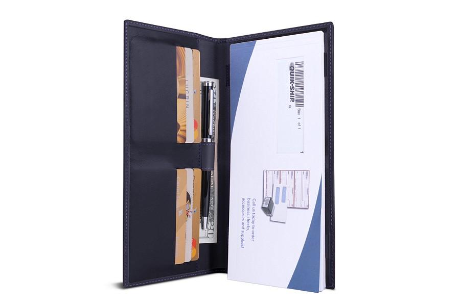 Standard checkbook holder