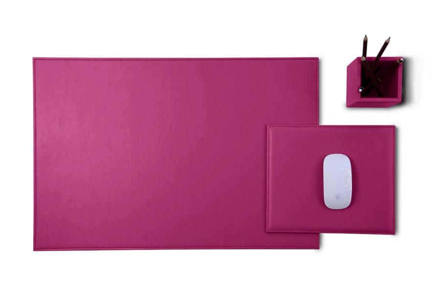 gold edition leder schreibtisch set fuchsia glattleder. Black Bedroom Furniture Sets. Home Design Ideas