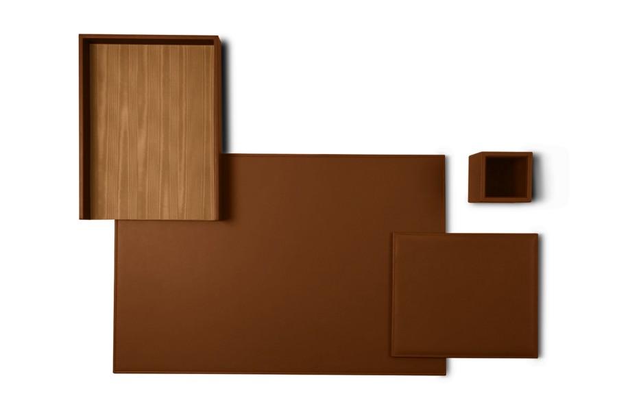 parure de bureau platinum edition cognac cuir lisse. Black Bedroom Furniture Sets. Home Design Ideas