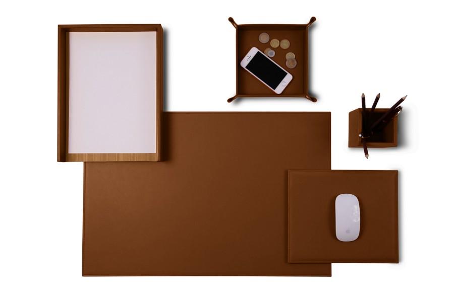 parure de bureau senator edition cognac cuir lisse. Black Bedroom Furniture Sets. Home Design Ideas