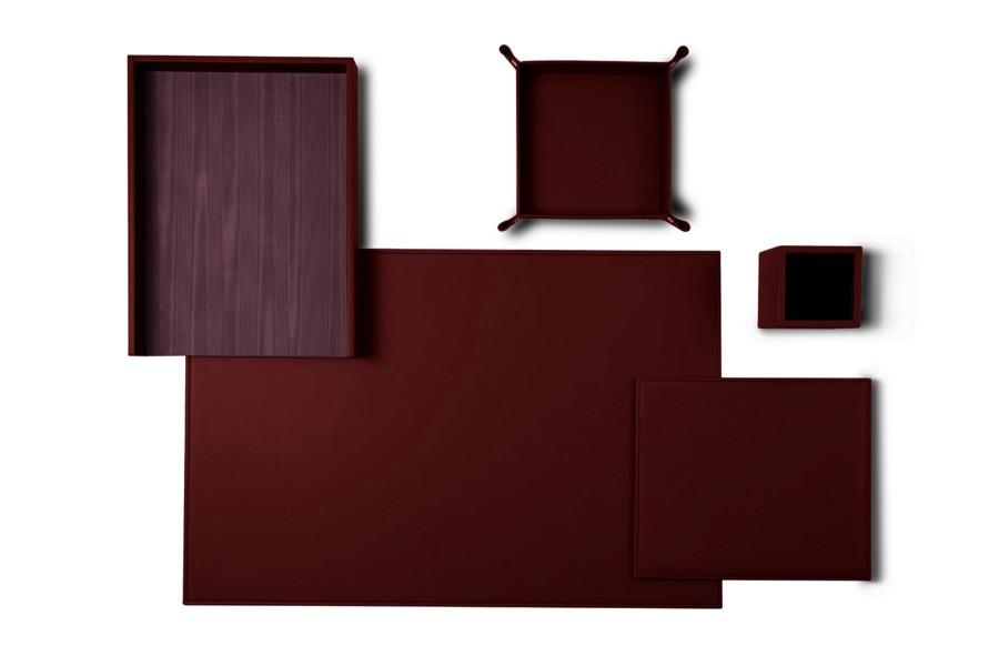 senator edition 39 leder schreibtisch set weinrot glattleder. Black Bedroom Furniture Sets. Home Design Ideas