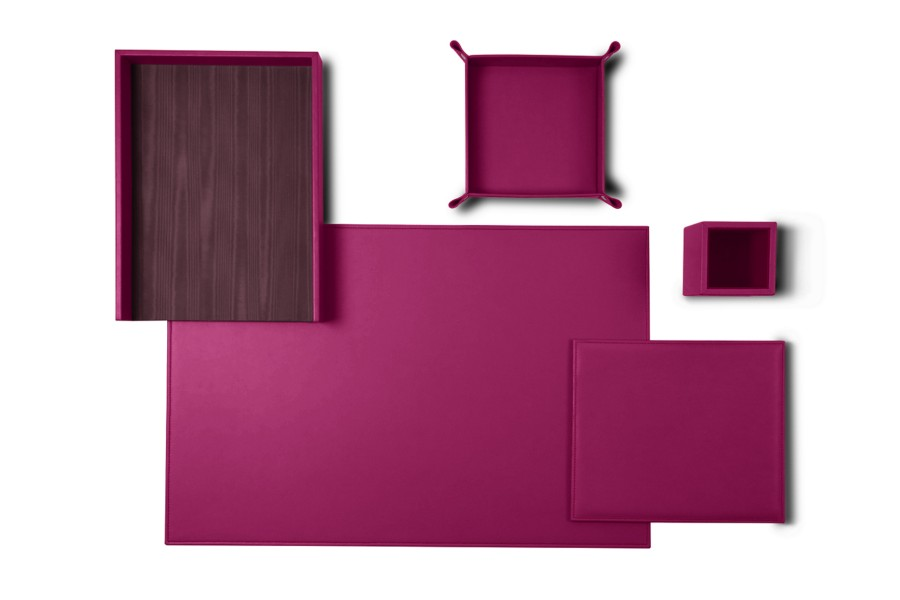 parure de bureau senator edition fuchsia cuir lisse sets de bureau bureau. Black Bedroom Furniture Sets. Home Design Ideas