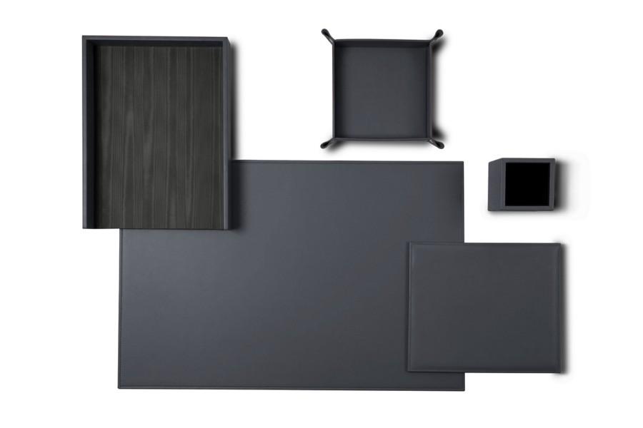 parure de bureau senator edition gris souris cuir. Black Bedroom Furniture Sets. Home Design Ideas